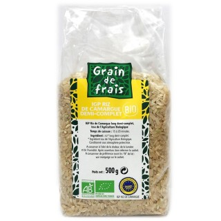 Riz de Camargue IGP demi complet BIO - Grain de Frais - paquet 500g