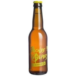 Bière artisanale Blonde des Alpes by Mandrin - 33cl 4,8% alc./Vol- Brasserie du Dauphiné - Médaille Argent WBA 2017