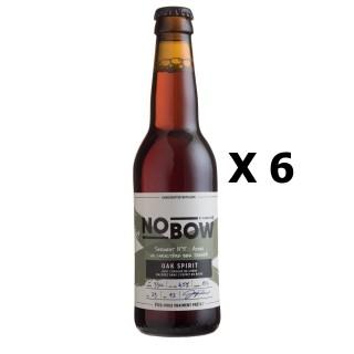 Lot 6x33cl - Bière artisanale Nobow Oak Spirit by Mandrin - 33cl 6,5% alc./Vol- Brasserie du Dauphiné