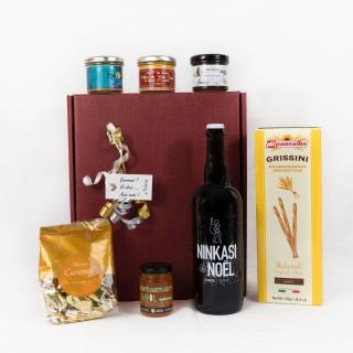 Coffret Cadeau Gourmand - Idée cadeau - Boîte cadeau écologique - 7 produits