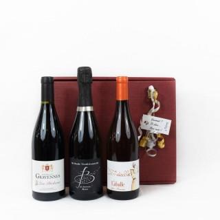 Coffret Cadeau Vin de Fête N°1 - Idée cadeau  - Boîte cadeau écologique - 3 produits