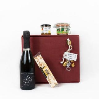 Coffret Cadeau Pétillant Festif- Idée cadeau - Boîte cadeau écologique - 4 produits
