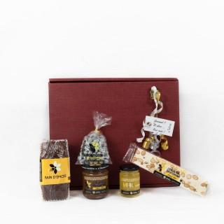 Coffret Cadeau Autour du Miel - Idée cadeau - Boîte cadeau écologique - 5 produits