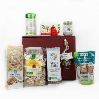 Coffret Cadeau tout Bio - Idée cadeau - Boîte cadeau écologique - 7 produits