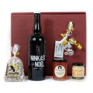Coffret Cadeau Douceurs Sucrées - Idée cadeau - Boîte cadeau écologique - 4 produits