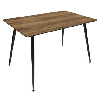 Table à manger Mobilier Design - L. 115 x H. 75 cm - Marron