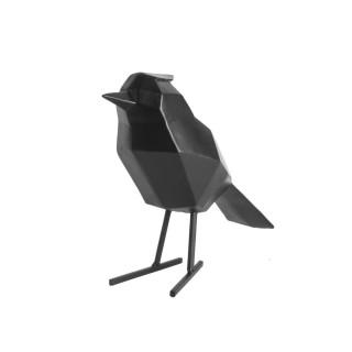 Statuette déco oiseau Origami - Noir