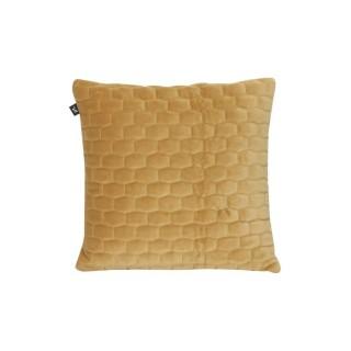 Coussin design velours Luxurious - Marron caramel