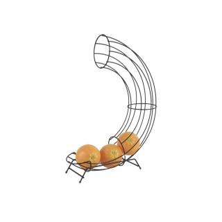 Corbeille distributeur d'oranges design Linea - Noir mat