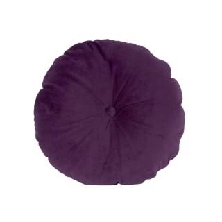 Coussin design rond en velours Luxurious - Violet