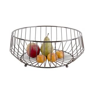 Corbeille à fruits design métal Kink - Gris foncé