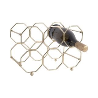 Range bouteille pliable design métal Honey - L. 31 x H. 22 cm - Doré