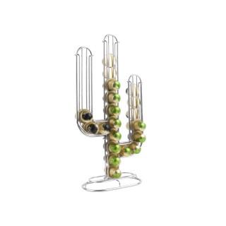 Porte-capsules design cactus Linea - Nespresso - Argent chromé