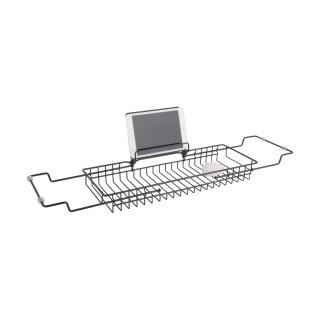 Pont de baignoire design métal Iglo - L. 61/86 cm - Noir