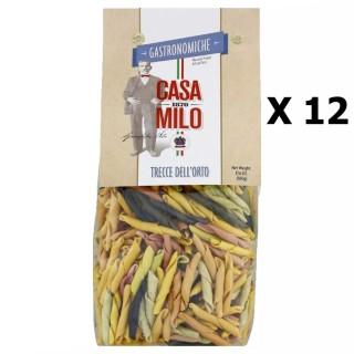 Lot 12x Pâte Trecce Dell'Orto - Italie - Casa Milo -  paquet 500g