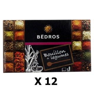 Lot 12x Bouillon de légumes - Bedros - 8 cubes - paquet 80g