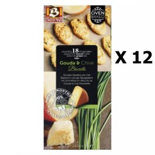 Lot 12x Biscuits au gouda et ciboulette - Buiteman - boîte 75g