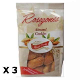 Lot 3x Rosegones aux amandes - Monte Turia - paquet 140g