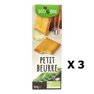 Lot 3x Biscuits petit beurre BIO - Bioalbon - paquet 167g