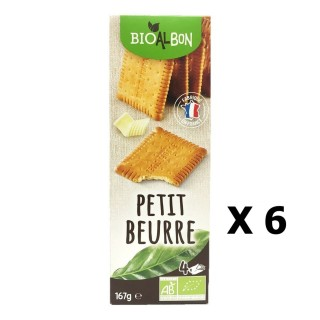 Lot 6x Biscuits petit beurre BIO - Bioalbon - paquet 167g