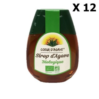 Lot 12x Sirop d'agave Bio - Cœur d'Agave - squeezer 250g