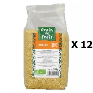 Lot 12x Millet décortiqué BIO - Grain de Frais - paquet 500g