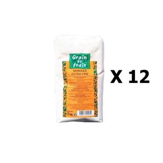 Lot 12x Semoule extra fine - Grain de Frais - paquet 1kg