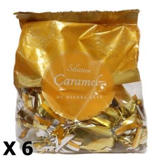 Lot 6x Papilotte caramel au beurre salé - Rhône Alpes - sachet 112g
