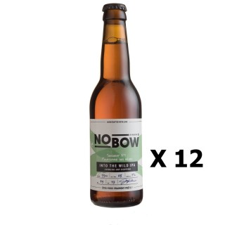 Lot 12x Bière artisanale Nobow Into The Wild IPA by Mandrin - 33cl 6% alc./Vol- Brasserie du Dauphiné