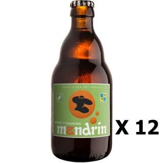 Lot 12x Bière artisanale Mandrin aux Chanvre - 33cl 6% alc./Vol- Brasserie du Dauphiné