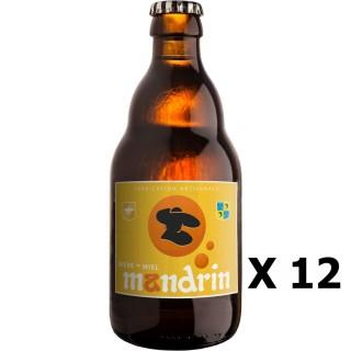 Lot 12x Bière artisanale Mandrin au Miel - 33cl 4,8% alc./Vol- Brasserie du Dauphiné