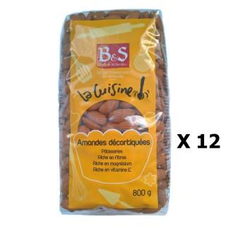 Lot 12x Amandes décortiquées - B&S - paquet 800g