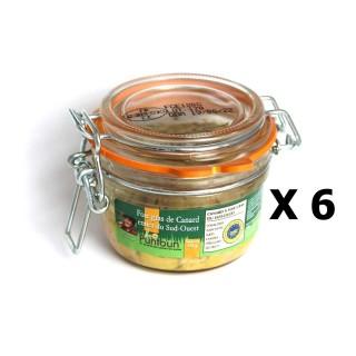 Lot 6x Foie gras de canard entier du Sud Ouest IGP - La Ferme du Puntoun - bocal : 120g