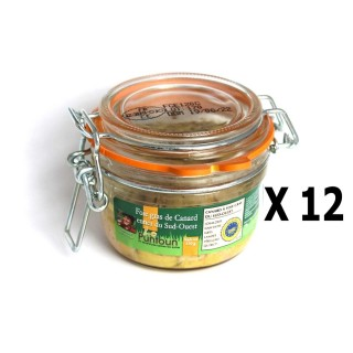 Lot 12x Foie gras de canard entier du Sud Ouest IGP - La Ferme du Puntoun - bocal : 120g