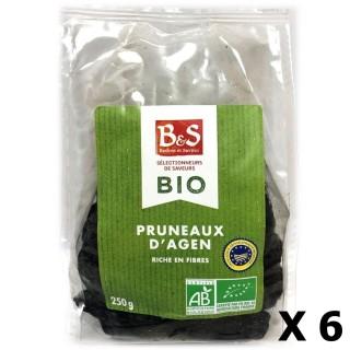 Lot 6x Pruneaux d'Agen IGP BIO - B&S - paquet 250g