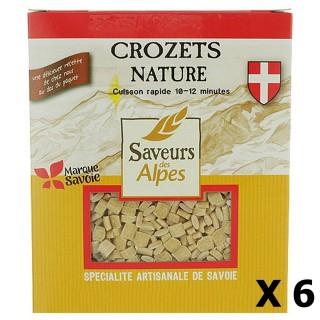 Lot 6x Crozets nature - Saveurs des Alpes - boîte 400g