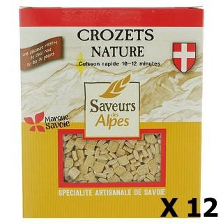 Lot 12x Crozets nature - Saveurs des Alpes - boîte 400g