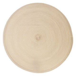 Set de table tressé rond Oscar - Diam. 38 cm - Beige