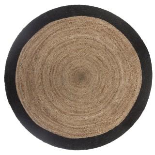 Tapis rond en jute Scandi - Diam. 120 cm - Noir