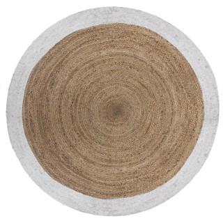 Tapis rond en jute Scandi - Diam. 120 cm - Blanc