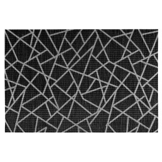 Set de table design craquelé Alph - L. 30 x l. 45 cm - Noir