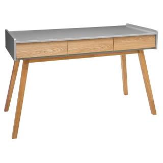 Console scandinave en bois Elva - L. 122 x H. 78 cm - Gris