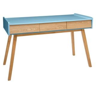 Console scandinave en bois Elva - L. 122 x H. 78 cm - Bleu