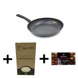 Cuisinez le Risotto - Riz Carnaroli Italie + poêle - 3 produits