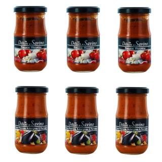 Lot 6x pot 190g - Sauce Ricotta et légumes & parmesan - Les Saveurs de Savino