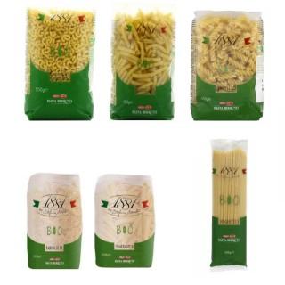 Lot 6x500g - Pâtes italiennes BIO : Farfalle, Coquillette, Maccaroni, Spaghetti, Penne rigate, Fusilli - 1881 Pasta Berruto