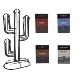 Cactus à café - Porte capsule Nespresso + capsules café Terres d'Origine - 5 produits