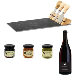 Service à fromage, vin et assortiment de confitures - 5 produits