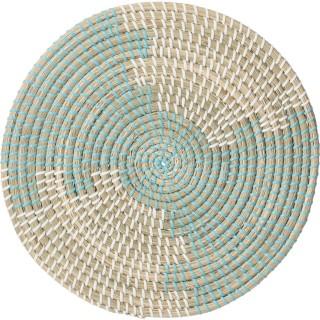 Set de table en osier vannerie Mood - Diam. 35 cm - Vert menthe