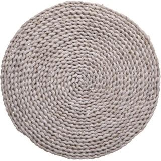 Set de table naturel Terre sauvage - Diam. 32 cm - Gris